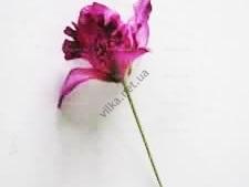 Орхидея искусственная фиолетовая на проволоке 17 см.
