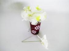 Орхидея искусственная белая на проволоке 15 см.