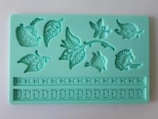 Молд кондитерский силиконовый  Листики 13 х 20 см