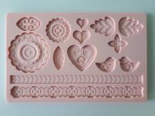 Молд кондитерский силиконовый  Сердце 13 х 20 см
