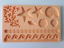 Молд кондитерский силиконовый  Море 13 х 20 см