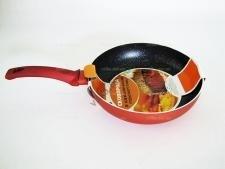 Сковорода AMY 22 см.   терракот с мрамором