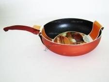 Сковорода AMY 26 см. терракот с мрамором