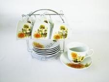 Сервиз чайный из 6-ти на подставке Подсолнух