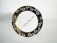 Тарелка  Золотой цветок  мелкая №9 - 23 см. (12 шт. в уп.)