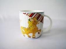 Чашка керамическая 8,5 х 9 см.  Лошадь