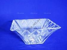 Салатник  стеклянный квадратный 21,5 x 21,5 x 9,5 cm