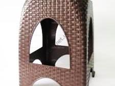 Табурет пластмассовый 4666 Senyayla Ротанг, 29cm x 29cm., h 45cm