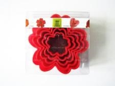 Форма пластмассовая 10 х 3,5 см. из 5-ти Цветок