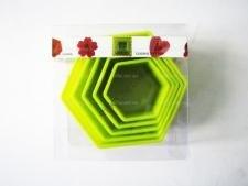 Форма пластмассовая 8,5 х 3,5 см. из 5-ти Шестиугольная