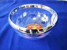 Салатник прозрачный пластмассовый с ободком 0,5 л.