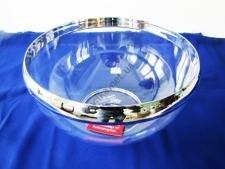 Салатник прозрачный пластмассовый с ободком 4 л.