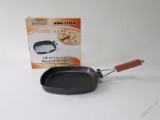 Сковорода-гриль, с тефлоновым покрытием d 24 cm, h 3,5 cm.