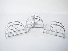 Салфетница-проволока нержавейка (скрипичный ключ, сердце, рюмка) w 13,5 cm h 8 cm