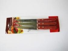 Нож с деревянной ручкой в наборе из 3-х на планшете