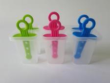 Форма пластмассовая для мороженного из 6-ти прямоугольная   Эскимо