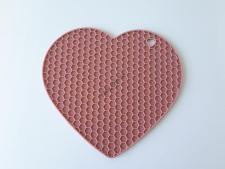 Подставка силиконовая под горячее Сердце 18 см.