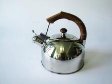 Чайник нержавеющий  3 л.  с коричневой ручкой