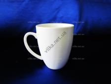 Чашка керамическая белая д. 8 см,  выс. 11 см. (6 шт.  в уп.)