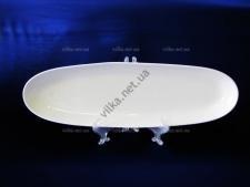 Блюдо керамическое глубокое белое 51 х 14,5 см.