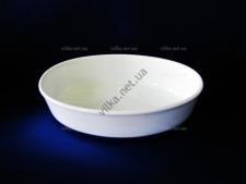 Блюдо керамическое глубокое белое 22 х 16 см.