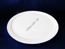 Блюдо керамическое белое с ободком (пицца) д. 35 см.