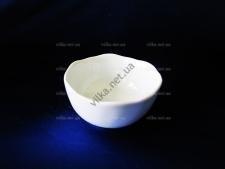 Розетка керамическая белая край волна выс. 3,5 см. д. 8 см.