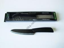 Нож керамический чёрный с наконечником 27,5 см.  с ручкой №3