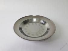 Тарелка мелкая нержавейка 22 см.