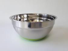 Миска нержавеющая, глубокая,  для миксера с силиконовым дном d 23,8 cm, h 11,5 cm. (2 л.)