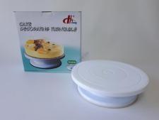 Стойка для торта пластмассовая  д. 27,5 см.  с силиконовым дном