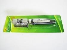 Точилка металлическая  с чёрной ручкой  19 см.