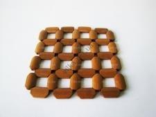 Подставка под горячее деревянная 15,5 х 15,5 см.
