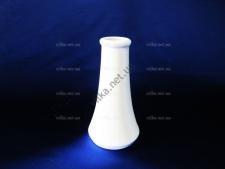 Вазочка керамическая белая 12,5 см.