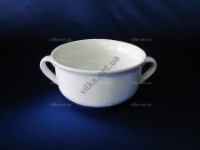 Чашка для бульона керамическая белая  д. 13 см.  выс.-6,5 см.  500 мл.