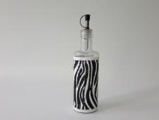 Ёмкость стеклянная для масла 25 см.  Зебра 0,5 л.
