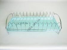 Сушилка нерж. для тарелок с поддоном VT6-14367-1(40шт)