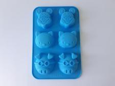 Форма силиконовая на планшете Зайка, мишка, бабочка из 6-ти 26 х 17 х 2,8 см.