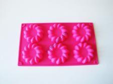 Форма силиконовая на планшете  Цветы из 6-ти 29 х 17 х 2 см.