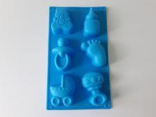 Форма силиконовая на планшете Детская из 6-ти 29 х 17 х 3,5 cm.