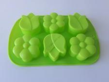Форма силиконовая на планшете  Цветы из 6-ти 26 х 17 х 3 см.