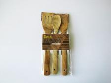 Набор деревянный из 3-х (ложка+2 лопатки) 28 см.