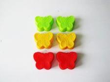 Форма силиконовая Бабочки в наборе из 6-ти 7,5 см.