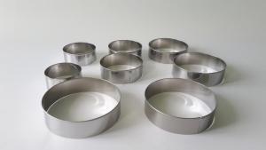 Набор колец нержавеющих  для гарнира из 8-ми (6,5 - 11,5 см.)