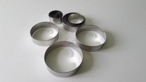 Набор колец нержавеющих  для гарнира из 14-ти (2,5 - 11,5 см.)