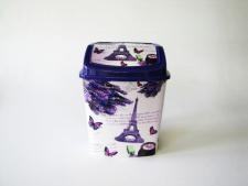 Ведро мусорное Элиф с рисунком № 341 (20шт) h 29cm