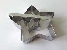 Форма нержавеющая кондитерская со втулкой Звезда L 15,5 cm; L 6 cm