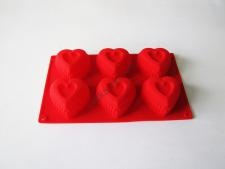 Форма силиконовая на планшете  Сердце 29*17*4,5см VT6-19295(150шт)