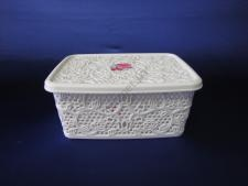 Корзинка Ажурная прямоугольная с крышкой 4л, 25,5cm x 19,5cm., h 11cm