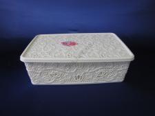 Корзинка  Ажурная  прямоугольная с крышкой 10 л (40,5 x 26 x 11,5 cm)